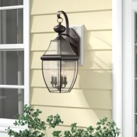 Ideal for illuminating recessed areas of architecture or hardscaping – such as pathways, stairways, and the like – outdoor wall fixtures bring style and utility to every home's exterior. This extra large wall lantern, crafted from brass and clear seedy glass, showcases a traditional look, perfect for creating curb appeal anywhere. Listed for wet locations, it's designed to stand up to the elements. Installation is required for this 29'' H x 16'' W x 14.75'' D luminary.