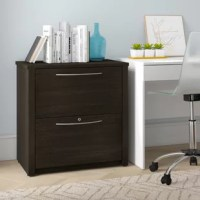 Looking to file away that memo mess, or simply create some folders for all those loose papers? A filing cabinet is an always-useful option for rounding out a study's storage options. Crafted from wood, this two-drawer piece features an understated, clean-lined silhouette perfect for a contemporary look in any home. Soft-close glides on the drawers prevent you from slamming your fingers, while the included lock helps keep sensitive info safe.