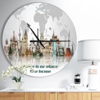 This is a beautiful addition to any home or office, this round wall clock is made on 100% solid aluminum. It has a highly reflective glossy finish creating a sleek modern look. This wall clock arrives completely ready to hang on the wall. Simply insert the AAA battery included with your order. This modern oversized clock makes it the focal point of any room.