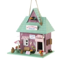 You all love ice cream. Reminiscent of times long ago, this cute birdhouse reminds us of the local ice cream and milkshake shop. Fully functional birdhouse with one 1.25