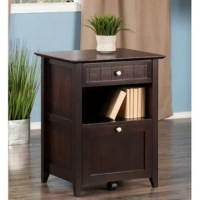 The warm, cottage styling of this 2-Drawer Vertical Filing Cabinet will transform your home office into an inviting place to work. The side and front wainscoting panels, beveled cabinet top, tapered legs, and brushed nickel knobs all give this versatile piece a handsome, yet casual feel. The bottom drawer can be used as a file cabinet for legal and letter-sized files or for use as extra storage. A rolling caster underneath the file cabinet drawer prevents the unit from tipping when the drawer...