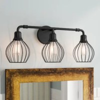 Bathroom remodels come in many forms, but across all of them, one thing remains the same: Lighting matters. Layers of lighting turn tiny washrooms into statement-makers and large-scale bathrooms into spa sanctuaries. Take this vanity light, for example, the perfect pick for any industrial design or modern farmhouse style abode, it features a circular backplate and pipe-inspired arm made from metal awash in back finish.
