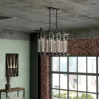 Instantly elevate your decor collection with this 8-light metal Pendant Light, a must-have addition to your well-appointed home. Add it to the living room to complement an industrial arrangement or use it to level out a cozy cottage look in the dining room.