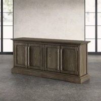 Rustic yet stately, this Ralston Solid Wood TV Stand for TVs up to 88