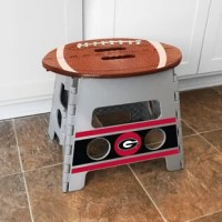 Give your team pride a boost with Step Stools by Sports Licensing Solutions! This light-weight product can hold up to 250 lbs, and it folds flat allowing for easy storage when not in use. Perfect for the home, tailgating and more!