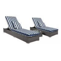 Live the good life in high style with the Monaco 3 Piece Conversation Set with Cushions. Whether poolside or by the garden, these two lounges set the stage for hours of relaxation and pleasure. The luxuriously supple cushions are crafted in a soft, durable fabric that is resistant to stains. The matching table provides the perfect spot for drinks and more. 4 Pillows are included.