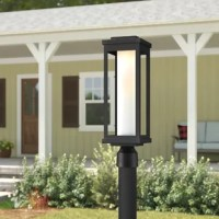 When it comes to illuminating outdoor spaces, post lamps are great options that wash a specific area in light without needing a wall mount. Perfect beside a mailbox or at the head of a driveway, a luminary like this is easily mounted for space-defining radiance. Crafted from cast aluminum, this 12 W LED piece is dimmable and must be hardwired. And since it's designed with wet spaces in mind, your home will stay well-lit even when rainstorms roll by.