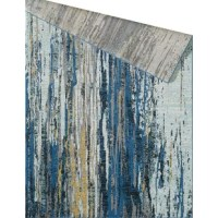 Define your home or office space with a modern piece of art, this rug. Crafted with a riot of colors detail, this soft to the touch rug features fun vertical lines that look as if they've been hand painted on. If you look real closely, it is hard to tell which color is in the forefront thanks to the unique multi-layered effects. Heavily distressed for an added allure, this beauty is sure to make a statement.