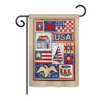 Best Price Usa Collage Americana Everyday Patriotic Impressions 2 Sided Polyester 19 X 13 In Garden Flag Furniture Online Ww26 Cleverux Co