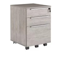 This vertical filing cabinet is crafted from a combination of solid and manufactured wood and features a streamlined design with three fully extendable drawers that are compatible with both legal- and letter-size documents. And since all of the drawers can be locked, this piece is great for keeping private documents out of sight. This cabinet includes removable, locking wheels, so moving this piece throughout a workspace is a breeze. Best of all, a five-year warranty protects it, so you don't...