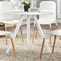 Some of our best memories are created at our dining tables – they host our family dinners, holiday feasts and more. No matter the shape or size, they play an integral role in our home. Take this one for example: Simple style meets contemporary design with this eye-catching construction. Its trestle base features three aluminum legs in a powder-coated finish, while its circular tabletop boasts solid tones that blend effortlessly with existing color schemes. With a seating capacity of four...