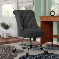 This task chair is a wonderful addition to any office or home office. Featuring extra plush seating along with a stylish lightly tufted seat back, this chair will have you feeling as if you are sitting on clouds. With an armless, open seat, this chair will become the most comfortable chair in your home or office.