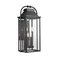 This Shekar 4-Light Outdoor Wall Lantern creates a warm and inviting welcome presentation for your home's exterior. A new traditional contemporary look with cast aluminum construction ensures durability.
