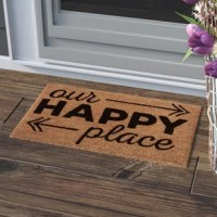 Want to turn an ordinary house into a home? Start by decorating it with pieces that speak to you. Take this doormat, for example: Crafted from coir (all-natural coconut fiber) with a rubber backing, this eye-catching piece is designed to help rid your shoes of grime, and hold up in the outdoors. Bring a welcoming feel to your front porch with this handmade piece, ensuring a great first impression from any visitors.