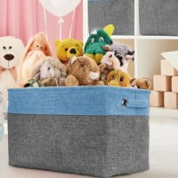 From household items to unruly toys, store some of the most common clutter with decorative organizer baskets. Keep a place for everything, with everything in place. This Storage Basket Bin Set features a classic neutral pattern with 2 sides carry handles and a collapsible frame. It's ideal for keeping household essentials tidy on any shelf, floor, or tabletop. Store clothes, books, toys, holiday items, and much more for a seamless organization. The portable carry handles make it easy to lift...