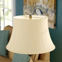 If something's feeling a little stale in your home, it could be your lampshades. Believe us or not, sometimes refreshing your home's look is as simple as flipping the switch on a fresh shade. For example, this 19'' bell shade is a great option for adding a curving, traditional look to your luminary and washing your room in a wider arc of light. Crafted from hand-tailored silk with a soft back lining, this piece caps a variety of lamps with an eye-catching silhouette. A metal fitter in a brass...