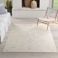 Ready to stand up to high foot traffic in the entryway and take on occasional spills under the kitchen table, polypropylene rugs are ideal anchors for any mess-prone area of your abode. Take this Persian-patterned one for example: made in Turkey, it is machine made from that must-have material with a low 0.38'' pile height for easy cleaning. To keep this piece safely in place, we recommend using a rug pad.