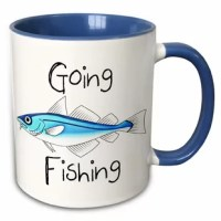 Cuevas Going Fishing Coffee Mug 11 oz mug. Why drink out of an ordinary mug when a custom printed mug is so much cooler. This ceramic mug is lead-free, microwave safe and FDA approved. An image is printed on both sides. Hand washing is recommended.