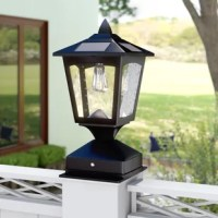 This Crofts Solar Powered 1-Light Lantern Head can be mounted on fence posts in your front or backyard, driveway, porch, balcony or walkway. They brighten patio, deck, terrace and pool areas with 20 LED lights that safely secure areas around your home or office. Save money and energy using the power of the sun! Solar power and rechargeable batteries (AA included). Outdoor safety and security wiring required. Fits 4