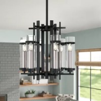 Capturing attention in a way other fixtures can't, chandeliers make a statement in any interior design without stealing valuable floor space. Take this one for example: Crafted from steel, this piece showcases a geometric frame, adding instant contemporary appeal to your space. Six clear cylinders diffuse light from any candelabra bulbs up to 60 W, perfect for highlighting any task at hand. Plus, this product comes backed by a one-year warranty.