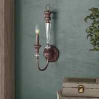 When it comes to mood lighting, your light fixture can make it or break it. Find the light you love with this candle wall light. Affixed to your wall by a metal attachment, this piece is awash in a mocha bronze finish with silver detailing, adding a touch of tradition to your space. One curved arm supports an included incandescent bulb, perfect for creating an old-world aesthetic in your arrangement.