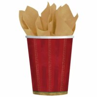 Oh, Christmas tree, how lovely are thy branches. Bring one of the most iconic parts of the season to your table with these twinkling tree paper cups. Each cup is made of shiny red paper and can hold both hot and cold liquid. Perfect for toasting your favorite season.