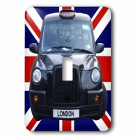 London Taxi Cab 1-Gang Toggle Light Switch Wall Plate is made of durable scratch resistant metal that will not fade, chip or peel. Featuring a high gloss finish, along with matching screws makes this cover the perfect finishing touch.