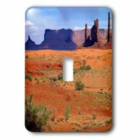 Monument Valley Totem Poles 1-Gang Toggle Light Switch Wall Plate is made of durable scratch resistant metal that will not fade, chip or peel. Featuring a high gloss finish, along with matching screws makes this cover the perfect finishing touch.