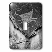 Monument Valley Petroglyph 1-Gang Toggle Light Switch Wall Plate is made of durable scratch resistant metal that will not fade, chip or peel. Featuring a high gloss finish, along with matching screws makes this cover the perfect finishing touch.