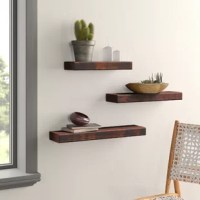 More storage in any space? Yes, please! With this floating shelf, it's easy to set up a decorative display in the bedroom, hallway, living room – you name it. Made in the USA, this understated trio of floating shelves is crafted from high-grade pine and showcases natural variations in the wood grain that make each piece distinctive. Hanging brackets are included, so you can start styling your space right away.