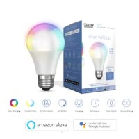 This 12-packs smart LED light bulb works with Alexa or Google Assistant (sold separately) and the Feit Electric Android and iOS mobile app. Easily turn lights on/off, dim, set groups and schedules using your smartphone or control lighting with simple voice commands. Tailor the light to suit your mood, the tunable light feature lets you adjust the color temperature from relaxing 2700K soft white to energizing 6500K daylight, or you can increase the fun and celebrate by choosing light colors. Set...