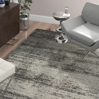 Roll out the chic style in any space with this eye-catching rug, the perfect foundation for contemporary settings. Showcasing an abstract pattern and a dark and light gray color palette, this lovely Dark/Light Gray Area Rug is perfect for complementing monochromatic ensembles or rounding out vibrant aesthetics. This rug is also crafted from polypropylene, so it is fade- and stain-resistant making it perfect for spill-prone space and high-traffic areas. Try rolling it out in your entryway to...