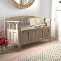 Update your home with a rustic look with the Apruva Storage Bench. Perfect for adding to an entryway, hall or mudroom, the bench features a split seat design. Storage beneath the seat is ideal for keeping coats, shoes, and bags hidden. The natural washed finish allows the piece to blend seamlessly into any home.