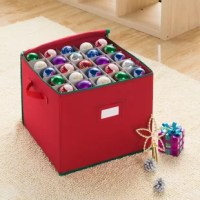This Ornament Storage has made it easy to store away those special and irreplaceable Christmas ornaments with this 75 compartments ornament chest. That's right, 75 compartments, making this the largest portable ornament storage of its kind. This innovative, heavy-duty chest is designed specifically to protect your heirloom Christmas trees ornaments, keeping them safe between holiday seasons year after year. Heavy-duty construction, stitched seams, and premium zipper make this the best ornament...