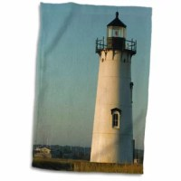 MA, Marthas Vineyard, Edgartown Lighthouse Hand Towel is great to use in the kitchen, bathroom or gym. This hand sports towel allows you to customize your room with a special design or color. Great for drying dishes, hands, and faces. Suitable to put in any sports bag. The image will not fade after washing. Machine wash, tumble dry low, do not bleach. The towel will regain its fullness after the first washing.