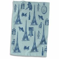 Paris Chic Eiffel Tower French Hand Towel is great to use in the kitchen, bathroom or gym. This hand sports towel allows you to customize your room with a special design or color. Great for drying dishes, hands, and faces. Suitable to put in any sports bag. The image will not fade after washing. Machine wash, tumble dry low, do not bleach. The towel will regain its fullness after the first washing.