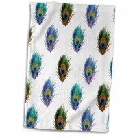 Peacock Feather Teal Turquoise Feathers Elegant Fancy Classy Stylish Hand Towel is great to use in the kitchen, bathroom or gym. This hand sports towel allows you to customize your room with a special design or color. Great for drying dishes, hands, and faces. Suitable to put in any sports bag. The image will not fade after washing. Machine wash, tumble dry low, do not bleach. The towel will regain its fullness after the first washing.