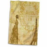 Vintage French Lady in Paris with Eiffel tower in with Flowers Hand Towel is great to use in the kitchen, bathroom or gym. This hand sports towel allows you to customize your room with a special design or color. Great for drying dishes, hands, and faces. Suitable to put in any sports bag. The image will not fade after washing. Machine wash, tumble dry low, do not bleach. The towel will regain its fullness after the first washing.