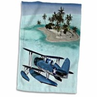 Military Seaplane Hand Towel is great to use in the kitchen, bathroom or gym. This hand sports towel allows you to customize your room with a special design or color. Great for drying dishes, hands, and faces. Suitable to put in any sports bag. The image will not fade after washing. Machine wash, tumble dry low, do not bleach. The towel will regain its fullness after the first washing.
