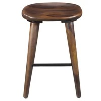 The natural beauty of Indian Sheesham wood shows in this solid wood, hand-crafted stool. Experience piece-of-mind knowing that this piece is made with