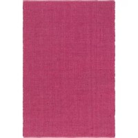 """Leilla Metallic Hand-Knotted Magenta Area Rug the """"Golden Fiber"""" just got better. Handwoven in India from jute and 10% lurex and cotton to make them shine, this Leilla Metallic Hand-Knotted Magenta Area Rug adds a shimmering twist to a classic natural look."""