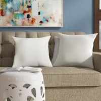Lend a pleasant pop of color (and comfort!) to any seating ensemble – indoors or out – with this pair of throw pillows! Made with polyester blend upholstery to stand up to sun, spills, and stains, each matching pillow cover sports a fashionable solid hue that's sure to fit with your furniture. Measuring 17.5
