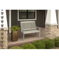 Enjoy the summer from your patio, lawn, or garden in this beautiful bench with a timeless teak look. The bench is a perfect addition to your outdoor lifestyle. Sit back, relax, and enjoy the outdoors with this Ardal Teak Garden Bench.