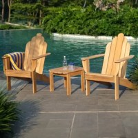 Arrange a beautiful seating arrangement for you and your love done with this 3 pieces Adirondack chat set. Enjoy morning coffee and late night chit-chat in simple and warming feel by this Adirondack set.