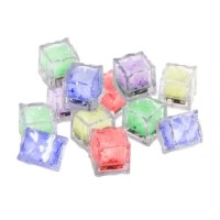 Create effortless ambiance at your next event with this LED Color Changing Lights Ice Cube! With an automatic color change sequence of purple, blue, red, green, yellow, and white, this liquid activated light will add a magical glow to your drinks, punch bowl, cooler, pool, tub, aquarium, fountain, pond or centerpiece vases. This versatile waterproof light is submersible in liquid and is made of food grade plastic, making them safe to use with food and drinks. The battery-powered underwater LED...