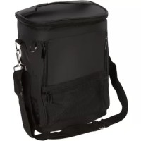 Enjoy a day on the golf course with this product. It can hold 16 cans and has a waterproof vinyl lining to keep ice and drinks cold, 2 front accessory pockets provide extra storage for golf balls, tees and more. The adjustable shoulder strap allows for comfortable carrying or it can even strap to a golf bag or golf cart.