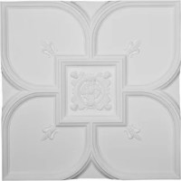Ekena millwork Ceiling Tiles are modeled after original historical patterns and designs. The finished look is a beautifully detailed, light weight, solid construction, focal piece. Urethane Ceiling Tiles are light weight for easy installation. They are fully primed and ready for your paint. If you have any questions feel free to ask.