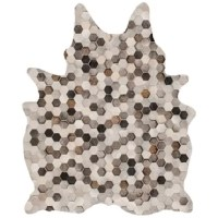 This Digital Hide Stone Gray/Beige/Brown Area Rug is designed digitally on to low pile soft chenille and then each rug is hand cut and finished into its perfect hide shape. The digital hide is nonslip, washable, non-allergenic and designed for easy maintenance.