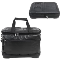 The latest collapsible cooler bag design: advanced insulation technology for a superior can cooling experience: heavy-duty nylon handles and removable straps make it easy to carry while filling up with ice, bottles and cans. High-quality insulation and leak-proof. Keeps ice up to 24 hrs.