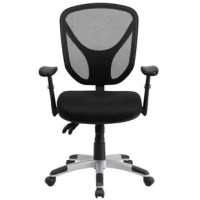 If you're looking for an easy to adjust office chair than this triple paddle chair is an excellent choice. Mesh office chairs can keep you more productive throughout your workday with its comfort and ventilated design. The contoured seat dissipates pressure points for greater comfort. The mid-back design offers support to the mid-to-upper back region. The locking back angle adjustment lever changes the angle of your torso to reduce disc pressure. The locking tilt mechanism allows you to lock...